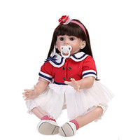 Silicone Vinyl Lifelike Girl Doll Reborn Baby Toddler with C...
