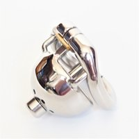 Boy Chastity Devices Cock Cage Medical Stainlee Steel Locking Cock Ring con cubierta de pene activa Stealth Locks Sex Toys para hombre