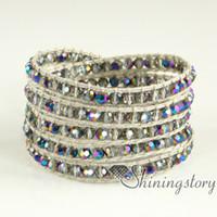 cuerdas de mocuba envuelven pulsera pulseras para mujer envuelven joyas abalorios de cuero pulseras de cuero fresco