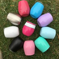 8 oz egg cups 10 colors Stemless Wine Cup travel beer mugs w...