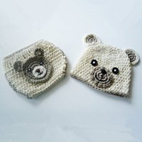 Newborn Teddy Bear Costume, Handmade Knit Crochet Baby Boy Gi...