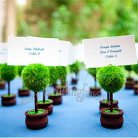 100pcs Green Topiary Place Card Holder Wedding Favors Event ...