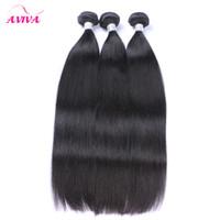 Бразильские девственницы человеческие волосы сплетенные пучки TOP 8A необработанные перуанские малайзийские индийские камбоджийские прямые REMY Extensions натуральные черные
