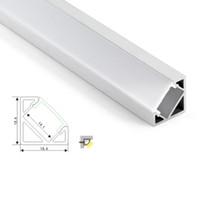 50 X 1M set / lotto Profilo in alluminio con angolo di 30 gradi e canale angolare a V per cucina o lampade a led