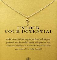 Avec carte! Adorable collier Dogeared avec une nouvelle clé (libère ton potentiel) couleur argent et or, aucun fondu, livraison gratuite et de haute qualité