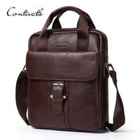 CONTACT' S Genuine Leather Bag top- handle Men Bags male ...