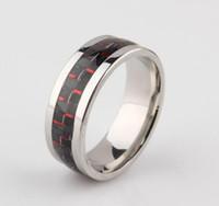Verlobungsringe Finger Modeschmuck Ringe Carbon-Faser-Wedding Bands für Männer Titanstahlring-Weihnachtsgeschenk