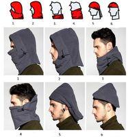 Mode Winterwärmer Motorrad Fahrrad Reiten Radfahren Maske Thermal Fleece 6 in 1 Balaclava Hood Ski Masken Ski-Kappe Schal