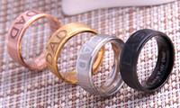 جديد وصول ثلاثة اللون أزياء رجالية الفولاذ المقاوم للصدأ أحبك أبي حلقة الرجال منقوش هدية اكسسوارات حلقة الأب هدية مجوهرات حجم 8-12