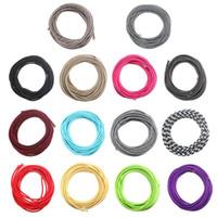 최고 품질 10M 2 코드 0.75cm 여러 가지 빛깔의 빈티지 트위스트 꼰된 패브릭 빛 케이블 레트로 전기 와이어 펜 던 트 램프 와이어