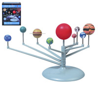 Venta al por mayor-caliente Astronomía Ciencia Juguetes educativos Sistema solar Cuerpos celestes Planetas Planetario Modelo Kit DIY Regalo de los niños