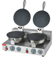 Gratis frakt ~ 110V 220V Dubbelhuvud Ice Crea Cone Maker / Waffle Cone Machine LLFA