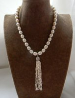 18' ' White Rice 10mm Freshwater Pearl Necklace Pen...