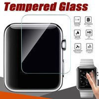 Protector de pantalla anti rayado de la película antirrayado de 9H Tempered Glass 9H Premium para Apple Watch Series 4 3 2 1 40mm 44mm 38mm 42mm Deporte