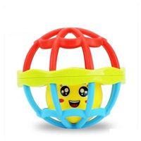 2pcs FlyingTown 러블리 재미 있은 아기 방울 플라스틱 참신 핸드 셰이크 벨 반지 조기 교육 장난감 완구 장난감 아기