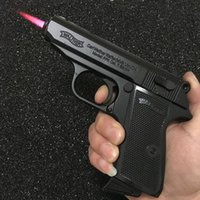 Große Metallpistole 64 PKK Browning Militärmodell Gun Prop Metallfeuerzeug Winddicht 1: 1 Metall Revolver Typ Gun Feuerzeug.