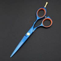 Saç Makas Kesme styling aracı Salon Kuaförlük makaslar siyah mavi gökkuşağı altın 5.5 INÇ Perakende Basit ambalaj Yeni