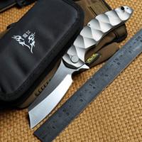 Magic Chaves Grand rasoir tactique Roulement à billes Flipper Couteau D2 lame Titanium Camping Chasse Survie Couteaux Outdoor EDC Outils