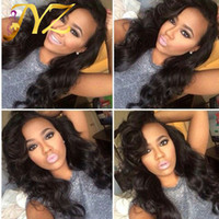 Big Body Wave Medium Size Cap Swiss Lace Human Hair Wig Blea...