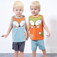 Yingzifang 2017 Summer Boys vest Baby Casual Cartoont Sleeve...
