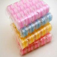 Precio más bajo 500 unids / lote caja de lentes de contacto encantadora caja de doble caja de lente doble colorido empapado de lente