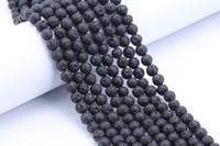 Wholesale Black Lava roccia sciolta 6mm 8mm 10mm 12mm 14mm perline di pietra naturale per la collana del braccialetto gioielli fai da te creazione fornitori