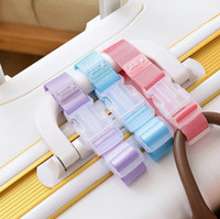 300 قطع البلاستيك حقيبة سفر الأمتعة أكياس هوك الأمتعة تحديد كليب حقيبة محمولة معلقة حزام الأمتعة مشبك