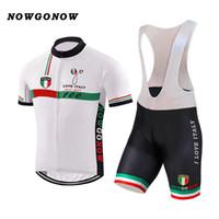 NEW 2017 JIASHUO 화이트 ITALY ITALIA 커스터마이징 핫 타이어 Racing 팀 자전거 프로 사이클링 저지 세트 턱받이 반바지 의류 호흡 용 에어