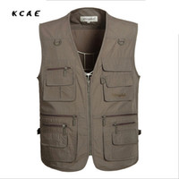 Wholesale- Factory wholesale Summer Men Multifunctional  Vest Sleeveless Jackets Coats Clothes Photography Vest