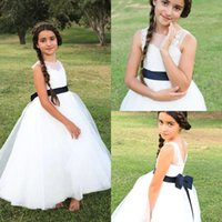 2017 New Arrival Cute White Flower Girls' Dresses With ...