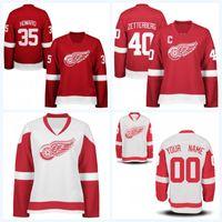 1461eb75a2f Lady Detroit Red Wings Jersey 9 Gordie Howe 11 Daniel Alfredsson 35 Jimmy  Howard 55 Niklas Kronwall Custom Hockey Jerseys Mix Order