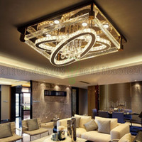 Be50 Basit Modern Yaratıcı Dikdörtgen Tavan Işık Oval LED Kristal Lambalar Oturma Odası Restoran Yatak Odası Otel Tavan Işıkları Aydınlatma