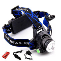 18650 Headlight Led Headlamp XM- L T6 Zoom Rechargeable light...