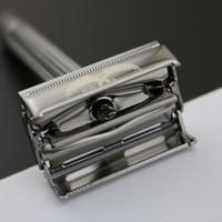 Maquinilla de seguridad clásica WEISHI de doble filo, aleación de cobre, perla negra 9306-C Embalaje simple de alta calidad 1PCS / LOT NEW