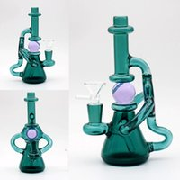 Green Glass Bongs With Foam Box 19cm Joint Size 14. 4mm dab r...