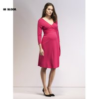 Brand Maternity Clothes 6Styles Elastic Maternity Dress Nice...
