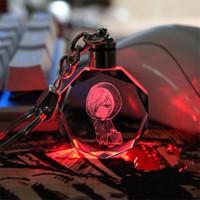 Accepter les coutumes Anime Yuri !!! sur glace Yuri Plisetsky Cristal LED Porte-clés Pendentif