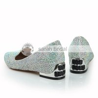 Clearbridal Plat Pour Femmes Brillant Perlé Chaussures De Mariage Point Toe Prom Soirée Robe De Soirée De Mariage De Mariée Chaussures Multi-couleur