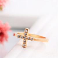 Anneaux de diamant Christian Strass anneaux de doigts pour femmes cocktail gemstone bague 18k Gold Taille Femme Cadeau Bijoux Cadeau de Noël