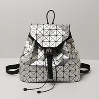 Leatury Luminous Backpack Diamond Lattice Bag Travel Geometr...