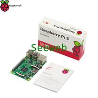 Freeshipping Original Raspberry Pi 3 Modello B UK Versione 1GB RAM 1.2GHz Quad-Core ARM Cortex-A53 64 bit CPU Bluetooth 4.0 Più veloce di RPI 2