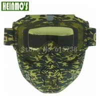 High quality New Detachable Modular Motorcycle Goggles Shiel...