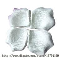 4000pcs Romantique Silk Rose Pétales artificielles Fournitures Photographie de mariage Décorations de photographie de mariage Valentins Parti Guirlands Accessoires de table Blanc