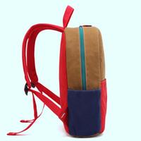 Baijiawei Прочный карманный рюкзак Шитон для двойных сумки Книжная сумка Холст Школьные дети Водонепроницаемые подростки Notmt