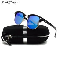 53a77b4eacd FankGlasses Mode Polarisierte Sonnenbrille Männer Frauen Markendesigner  Brille Beschichtung Sonnenbrille Oculos De Sol Eyewear Und Box
