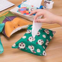 lindos dibujos animados cajas de pañuelos de algodón, telas de lino, caja de pañuelos, papel tisú, caja de almacenamiento, bolsa de dibujo, envío gratis