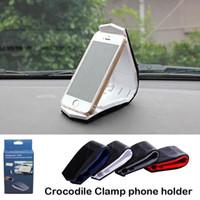 Nuovo supporto per telefono cellulare in silicone multifunzione coccodrillo morsetto auto cruscotto supporto per iPhone Samsung spedizione gratuita