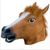 زاحف الحصان رئيس قناع هالوين زي مسرح الدعامة أقنعة حزب اللاتكس المطاط أقنعة مضحك رئيس الحيوان