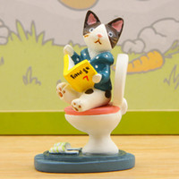 1pcs Zakka toilet cat fairy garden ornaments dolls bonsai fi...