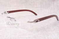 Direto da fábrica de alta qualidade rodada óculos lazer de qualidade óculos 8100903 espetáculo fashion naturais copos de madeira Tamanho: 54-18-135 mm